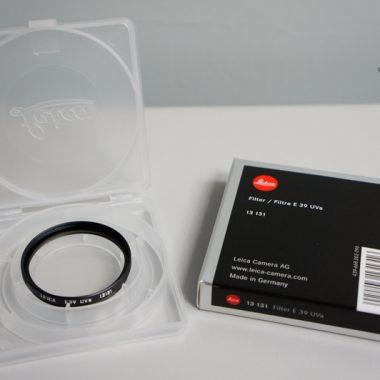 Leica E39 UVa Filter – 39mm (Black)