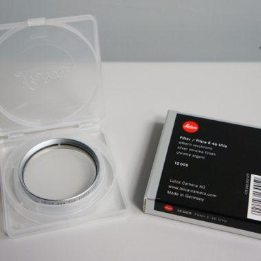 Leica E46 UVa Filter – 46mm (Silver)
